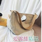 帆布包包包女包夏季小清新2020新款時尚韓版百搭側背包洋氣斜背帆布包交換禮物