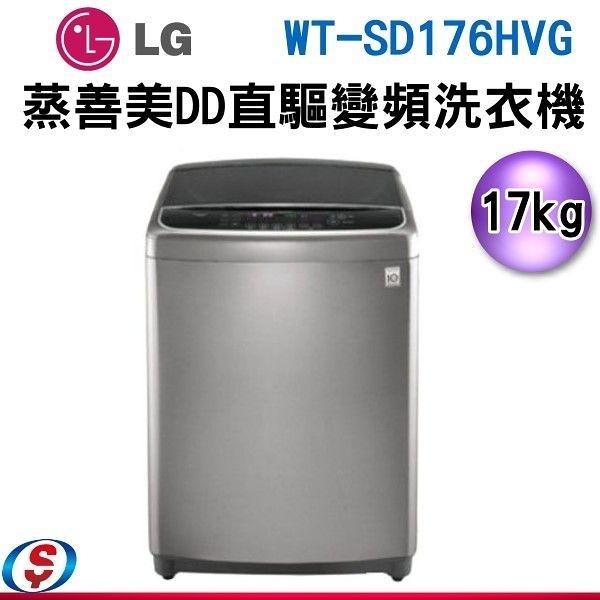 【信源】17公斤 LG 樂金 6MOTION DD 直立式變頻洗衣機 不銹鋼銀 WT-SD176HVG