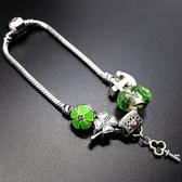 串珠手鍊-水晶飾品清新綠色生日情人節禮物女配件73bo88【時尚巴黎】