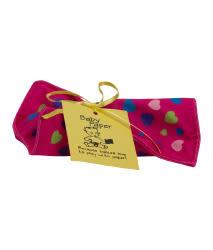 美國Baby Paper寶寶響紙安撫方巾 紫紅愛心