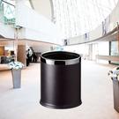 【企隆 圍欄 飯店用品】黑色皮圓形雙層桶/C45S-22 資源回收/清潔/整理/垃圾桶/清潔箱
