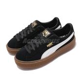 Puma 休閒鞋 Suede Platform Core 黑 白 麂皮鞋面 厚底鞋 女鞋 運動鞋【ACS】 36355902