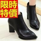 女款真皮高跟短筒靴-造型與眾不同率性女馬丁靴子1色62d13【巴黎精品】