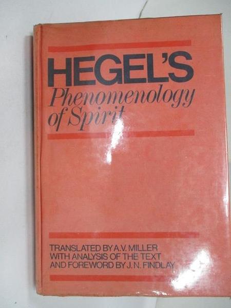 【書寶二手書T1/心理_D7F】Hegel s Phenomenology of Spirit