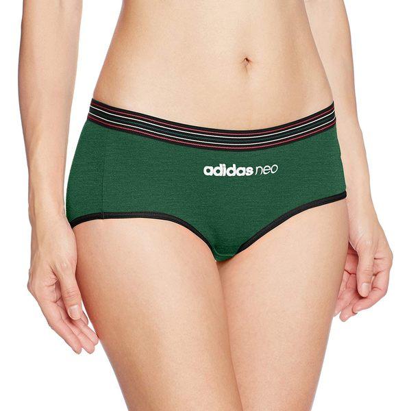 【京之物語】adidas neo女性舒適運動短褲M-LL(黑色/綠色/灰色)-預購商品
