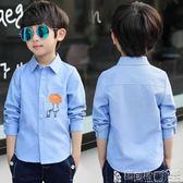 男童襯衫 男童長袖襯衫兒童男襯衣韓版春裝男孩春款上衣中大童童裝 寶貝計畫