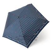 〔小禮堂〕Hello Kitty 超輕量折疊雨陽傘《深藍.條紋》雨傘.折傘.雨傘 4901610-43084