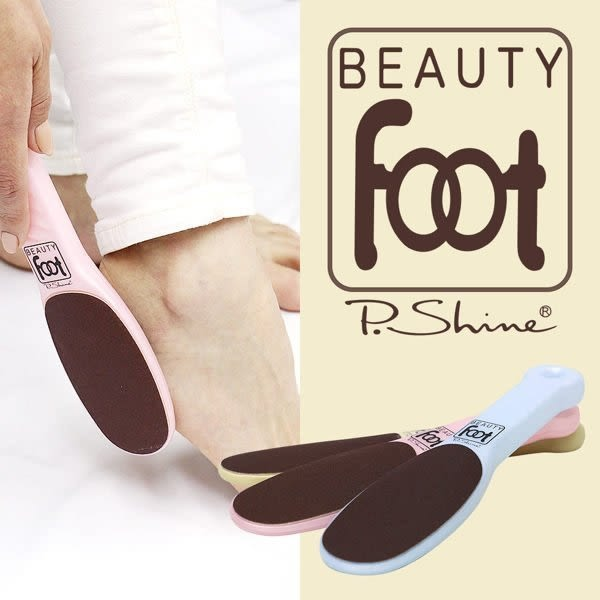 【杰妞】日本製 BEAUTY FOOT去硬皮 足部去角質 P.SHINE 去腳皮 去角質磨砂棒 隨機出貨