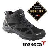 Treksta EVOLUTION 161 MID 男 Gore-Tex 防水中筒登山鞋 (鞋底加強防滑) 黑 |戶外|高筒健行鞋 KR16GM