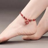 【新飾界】古風腳鍊鈴鐺有聲音紅繩足鍊女