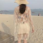 蕾絲衫 夏裝新款韓版chic寬鬆百搭超仙蕾絲衫女中長款防曬衣開衫輕薄 夢藝家