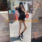 超高腰牛仔短褲女夏寬鬆顯瘦薄款a字闊腿熱褲【橘社小鎮】