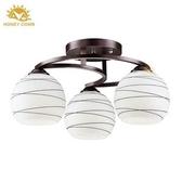 HONEY COMB 玻璃燈罩半吸頂燈 BL-10872