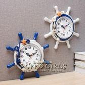 個性地中海鐘錶歐式掛鐘創意客廳北歐現代簡約臥室兒童靜音igo