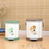 垃圾桶創意時尚歐式家用有蓋垃圾桶