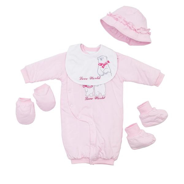 【愛的世界】鋪棉兩用嬰衣禮盒/3~6個月-台灣製---禮盒推薦