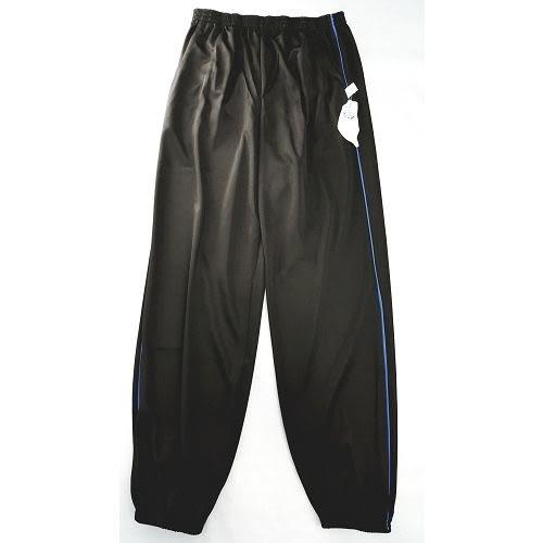 【MIT】台灣製造工作運動褲【6918-9-L】 束口褲管-黑色 側邊細藍色條●夏季限定≡輕薄【 守門員】