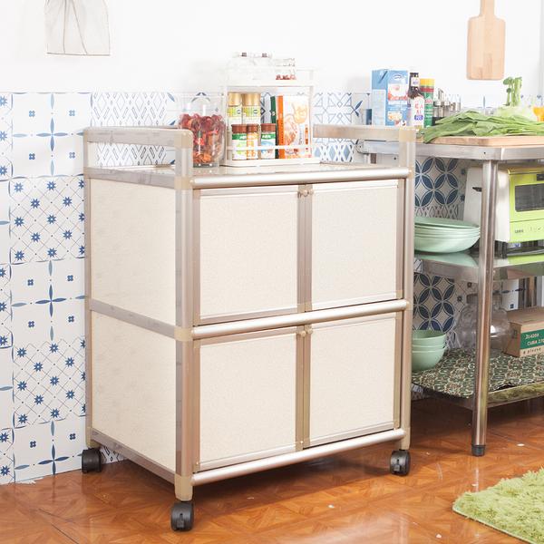 輕量鋁合金收納櫃[四門2尺]【JL精品工坊】鋁櫃 廚房櫃 收納櫃 電器架 活動櫃 鋁合金櫃