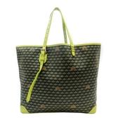 FAURE-LE-PAGE 綠色PVC材質拚牛皮無拉鍊手提肩背托特包 【二手名牌BRAND OFF】