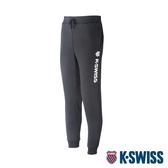 K-SWISS Branding Logo Sweat Pants保暖運動長褲-女-黑