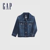 Gap嬰兒 淺色水洗Logo鈕釦牛仔外套 419839-靛藍色