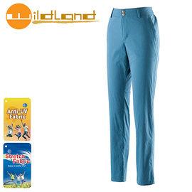 丹大戶外【Wildland】荒野 女款彈性抗UV直筒長褲 0A21339-46 土耳其藍