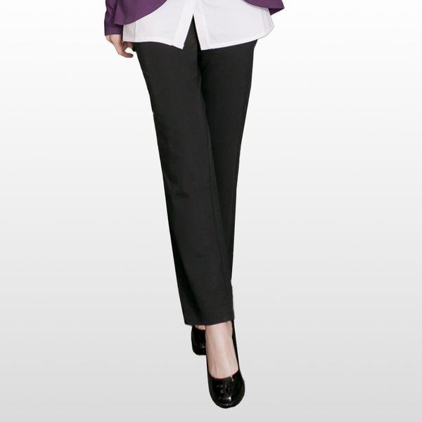 加大尺碼--簡潔俐落感口袋排釦裝飾西裝褲(黑.灰.綠XL-7L)-P98眼圈熊中大尺碼