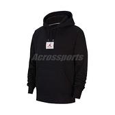 Nike 長袖T恤 Jordan Flight Fleece Pullover Hoodie 黑 白 男款 喬丹 帽T 運動休閒 【ACS】 CV6147-010