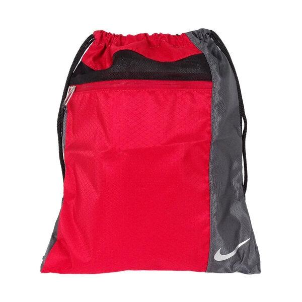 Nike Bag [GA0240-601] 束口袋 高爾夫 休閒包 健身袋 多功能 抽繩 輕量 紅黑