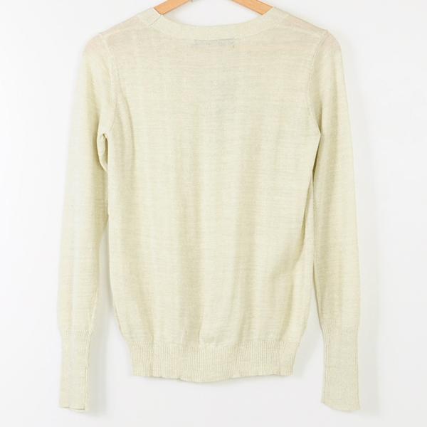 【MASTINA】銀蔥點綴薄針織-白  冬末好康