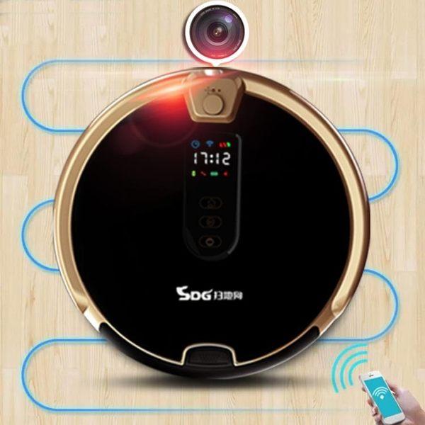 掃地機器人家用全自動 吸塵器智慧掃擦拖地一體機超薄  igo