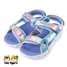 SKECHERS S LIGHTS 兒童閃燈 中大童 涼鞋 紫藍 NO.Y1751(302160LBLMT)