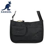 【橘子包包館】KANGOL 英國袋鼠 側背包 斜背包 61551702 黑色 卡其