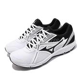 Mizuno 慢跑鞋 Maximizer 22 Wide 白 黑 男鞋 網布 透氣輕量 運動鞋【ACS】 K1GA2000-02