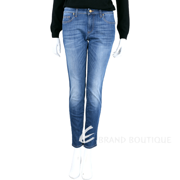 VERSACE 藍色刷白棉質牛仔褲 1620338-23