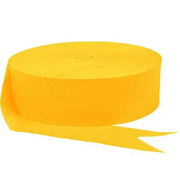 皺紋紙彩帶-日光黃