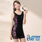 【Summer Love 夏之戀】時尚淑女連身四角泳衣-加大碼(E17788)