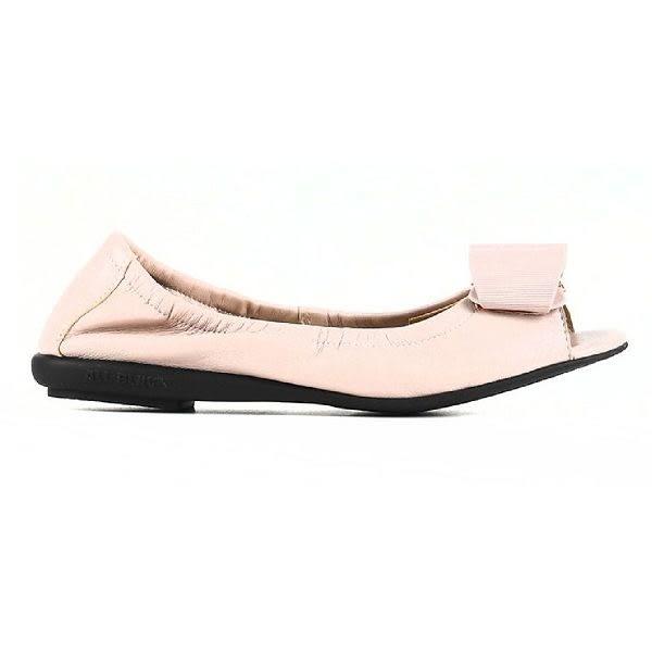 ALL BLACK  優雅時尚立體蝴蝶結魚口鞋 -- 粉紅