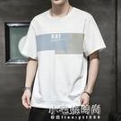 夏季男士短袖t恤潮流潮牌寬鬆純棉衣服2021新款青年T恤男 小宅妮