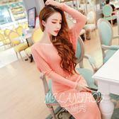 針織衫洋裝 韓版OL氣質時尚名媛針織拼接蝙蝠袖毛衣連身裙打底裙