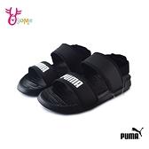 PUMA童鞋 男女童涼鞋 大童 簡約涼鞋 運動涼鞋 輕量涼鞋 耐磨涼鞋 SOFT SANDAL PS K9575#黑色