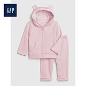 Gap男女嬰兒長袖連帽運動服套裝513702-淺粉色