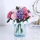現代簡約彩色透明花瓶 創意時尚家居擺件玻璃瓶 樣板間軟裝插花器 CJ5813『易購3c館』