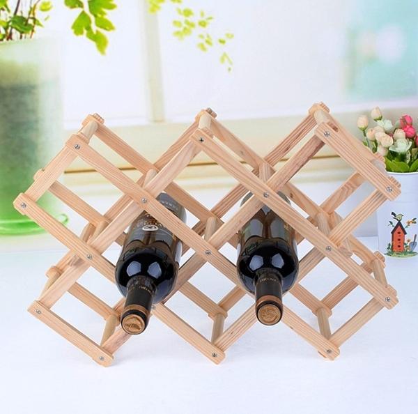實木簡約酒瓶擺飾收納支架 葡萄酒/紅酒瓶/洋酒/威士忌酒瓶收納裝飾原木支架