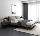 北歐床現代簡約1.5米雙人床北歐風實木床1.8經濟原木床架主臥婚床 MKS雙12