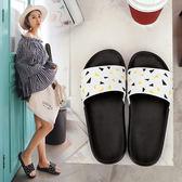 韓國拖鞋女夏厚底潮時尚情侶男女平跟室外穿防滑一字拖潮防臭涼拖
