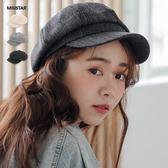 春裝上市-MIUSTAR 無印風!簡約素色報童帽(共3色)【NH0294】預購