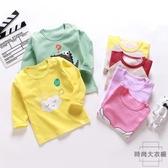 寶寶長袖t恤秋冬純棉嬰兒上衣兒童男女童打底【時尚大衣櫥】