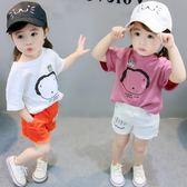 女童短袖t恤夏裝寬鬆百搭上衣女孩長袖體恤中小童寶寶t恤 奇思妙想屋