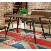 【森可家居】貝尼托4尺餐桌(不含椅) 8ZX954-2 商用 餐廳 咖啡廳 木紋質感 黑鐵桌腳